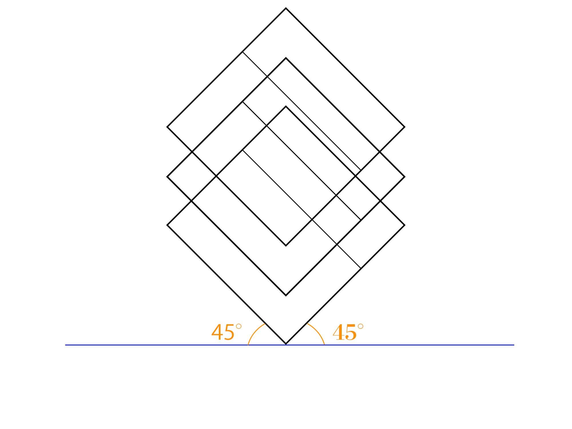 傾斜平面図描き方ステップ③
