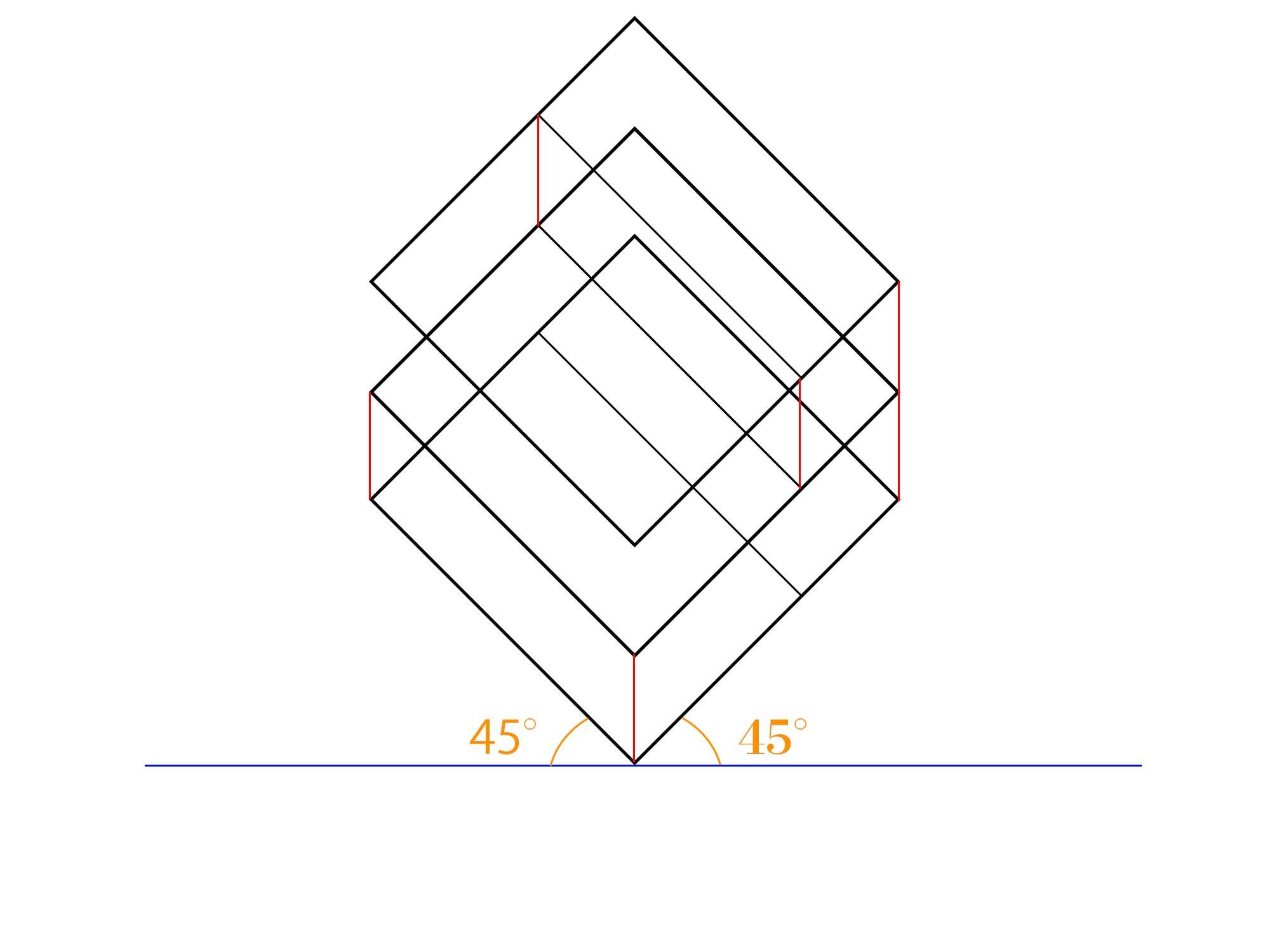 傾斜平面図描き方ステップ④