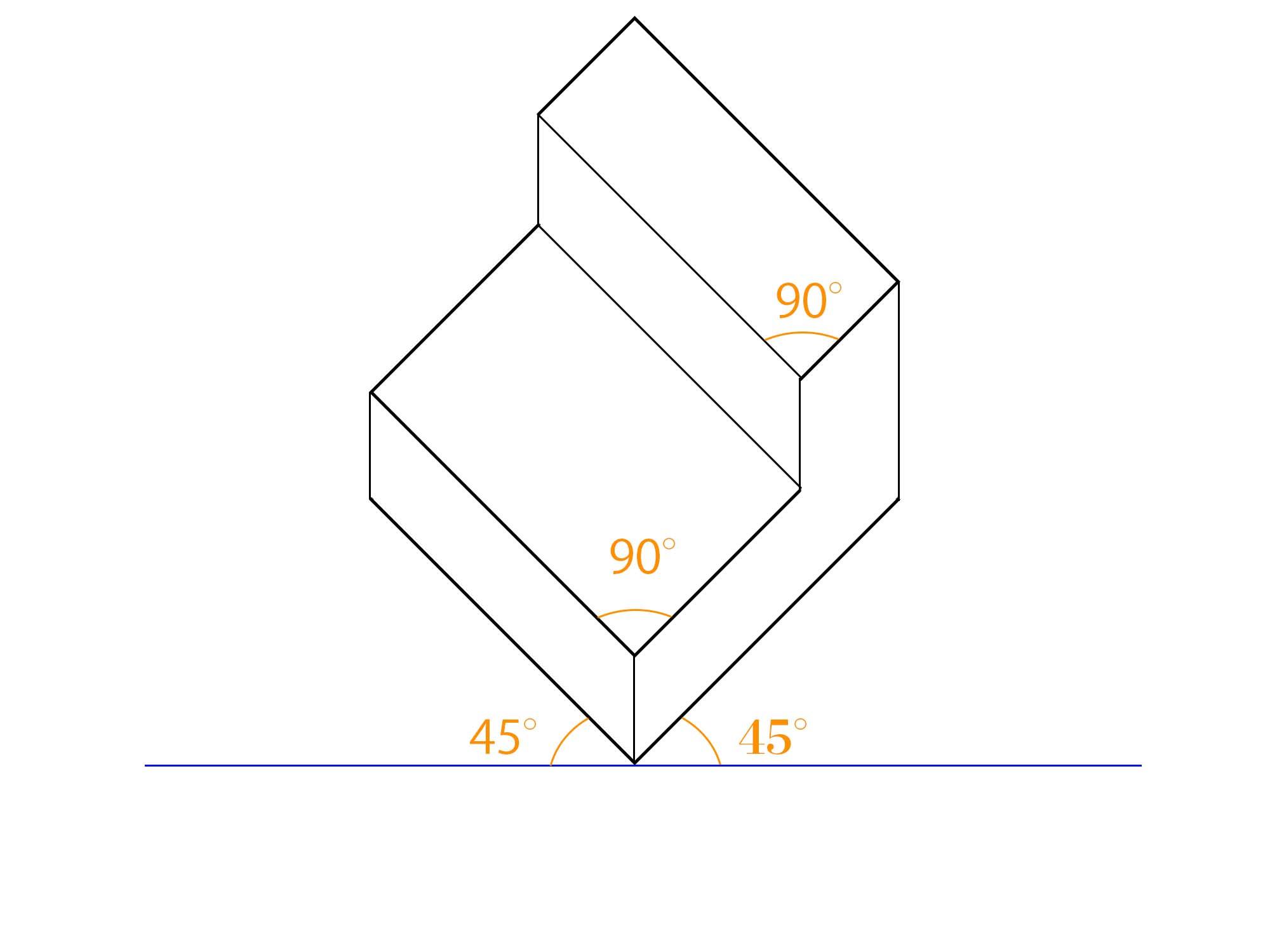 傾斜平面図描き方ステップ⑤