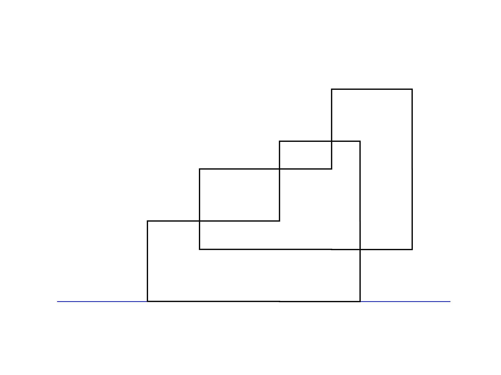 傾斜立面図描き方②