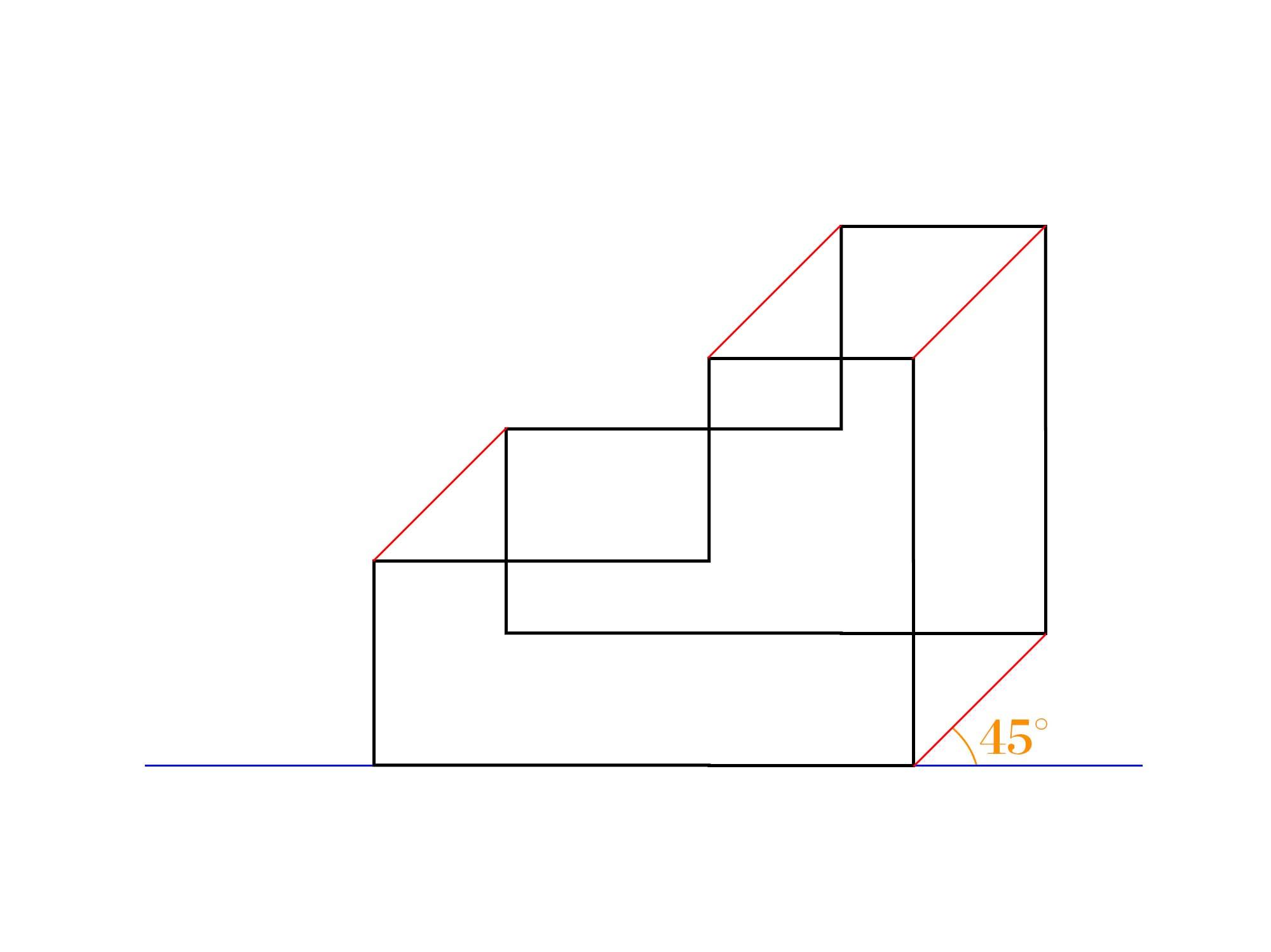 傾斜立面図描き方③