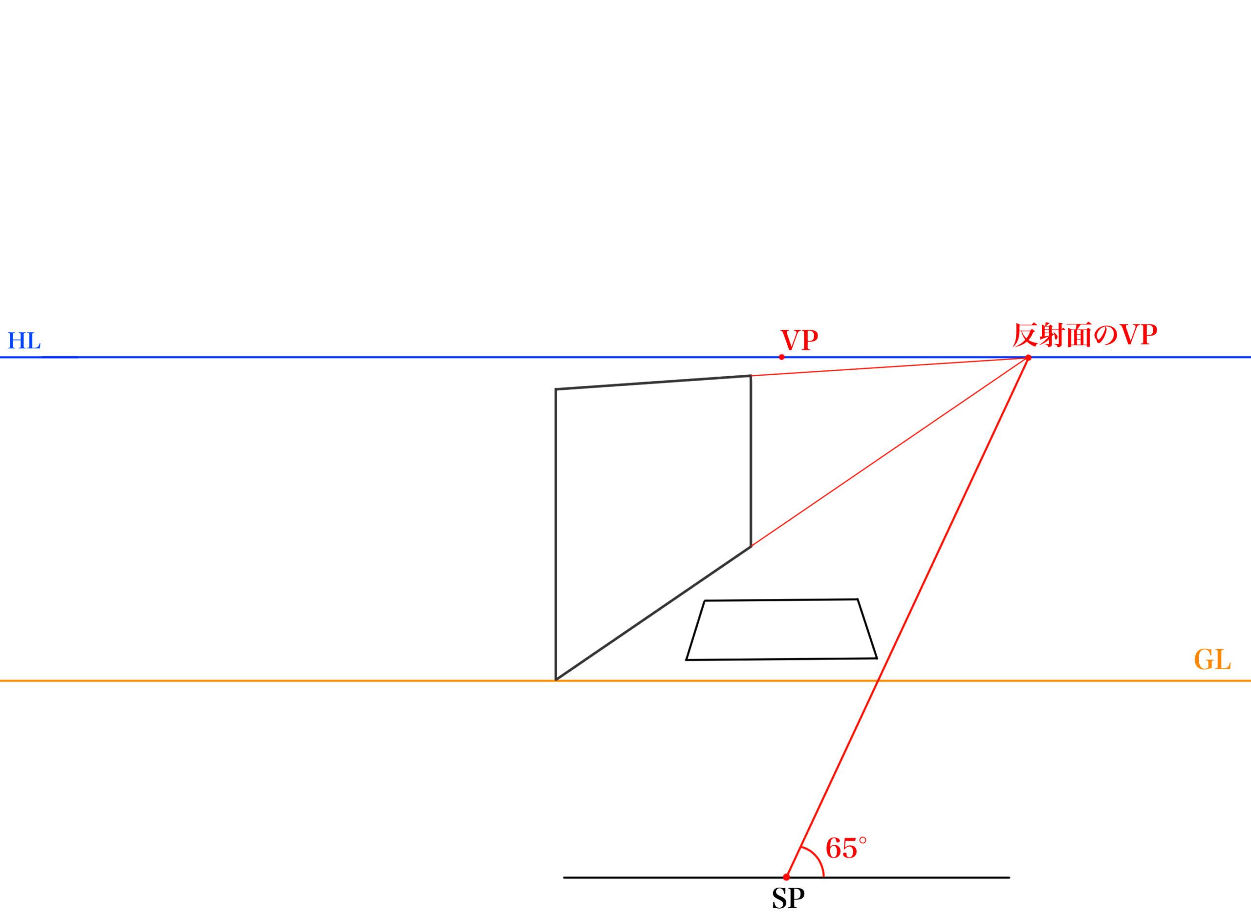 傾斜面の反射を描く①_2