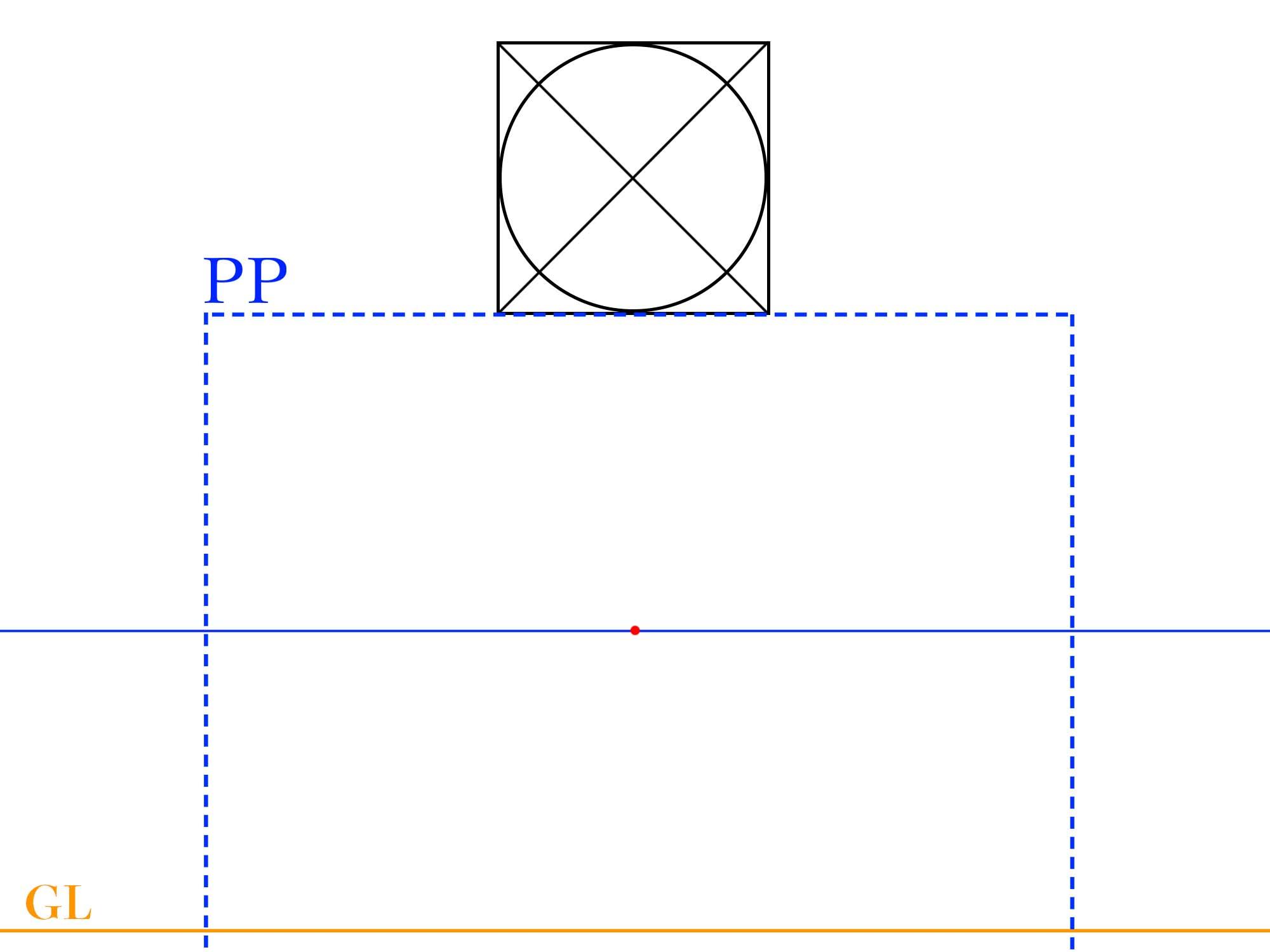 平面図を用意してPPとGLを引く