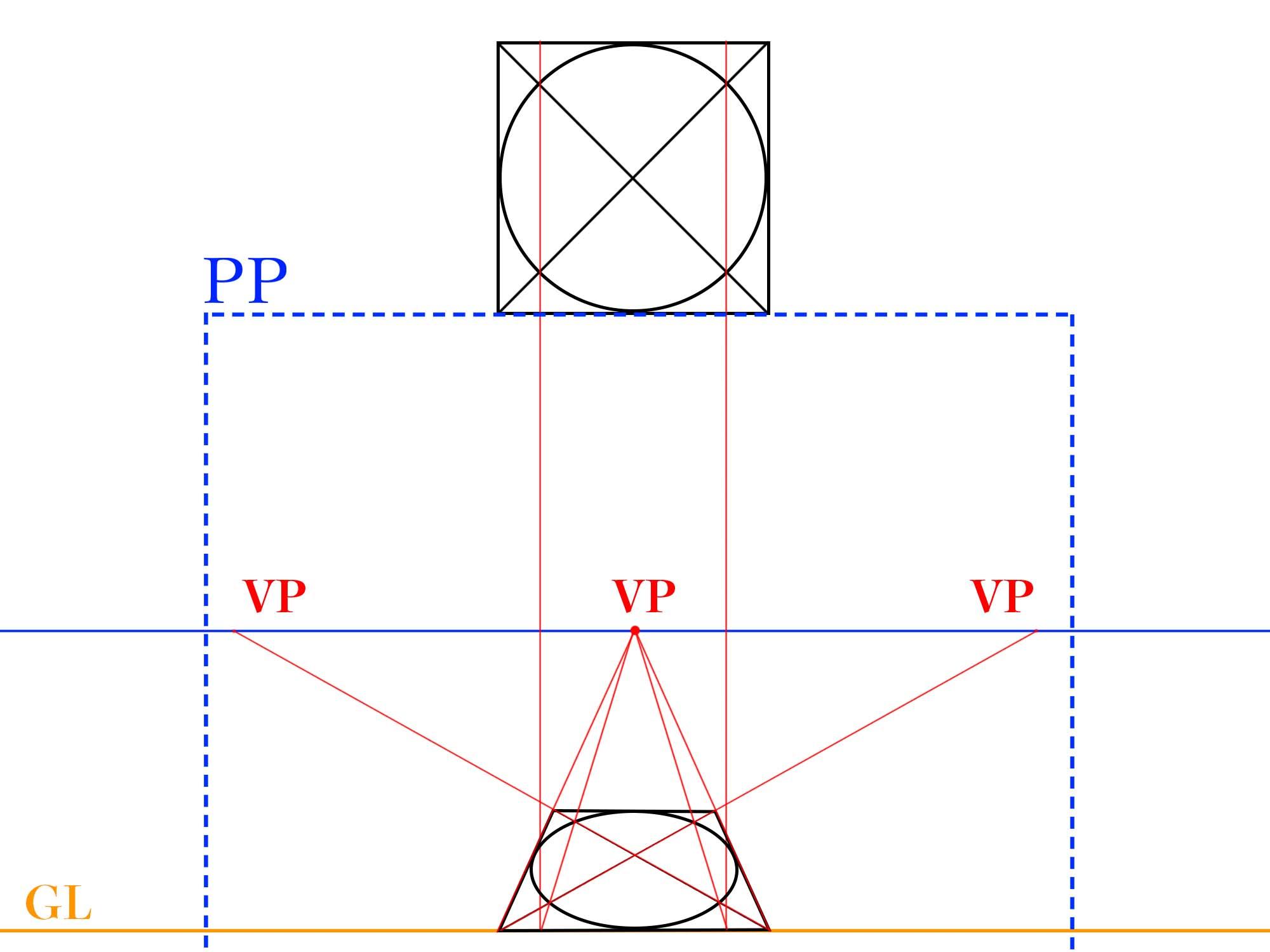 平面図を透視図化する