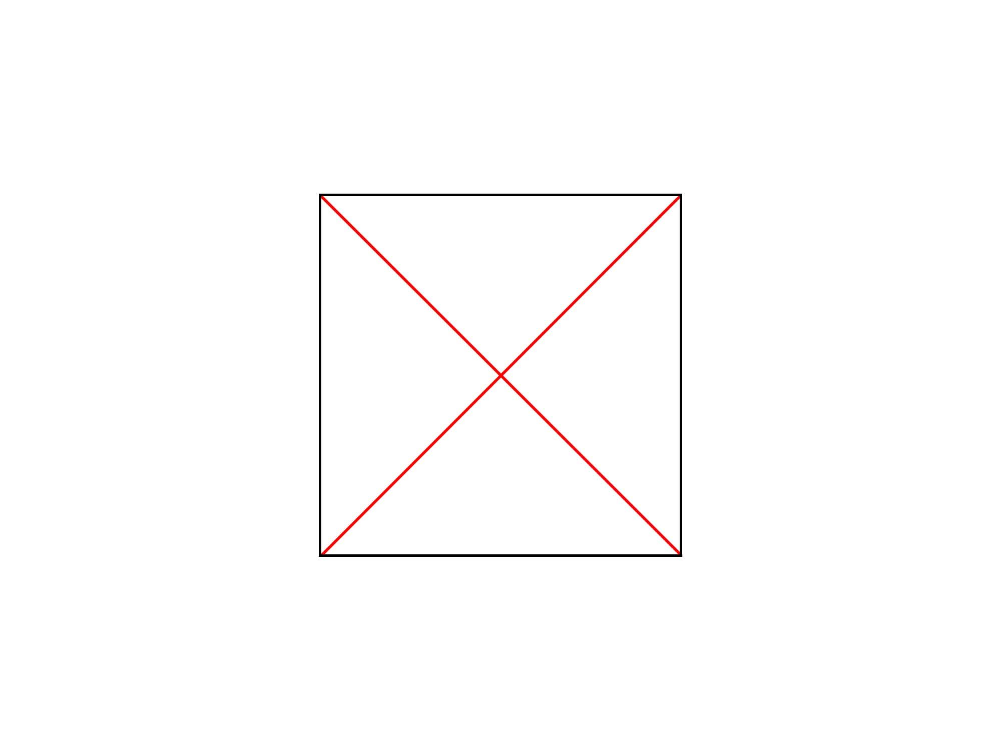 正方形に円を描く①
