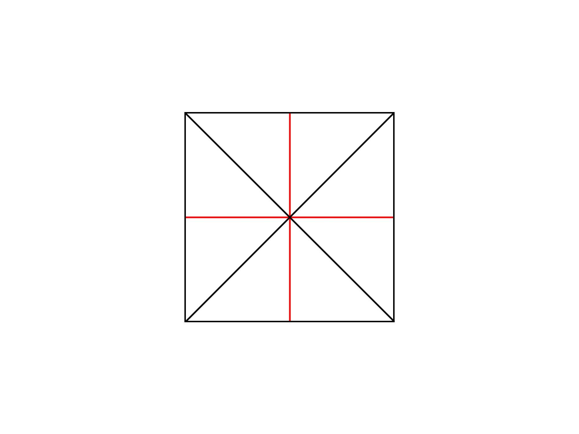 正方形に円を描く②