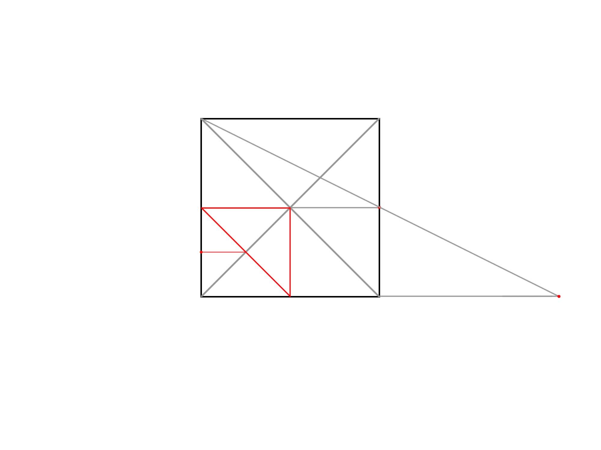 正方形を使って円を描く④