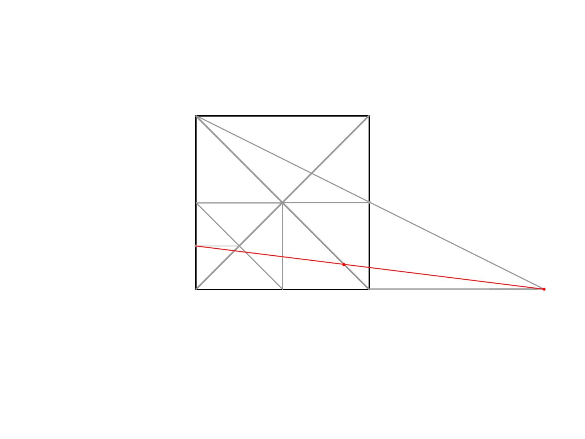 正方形を使って円を描く⑤