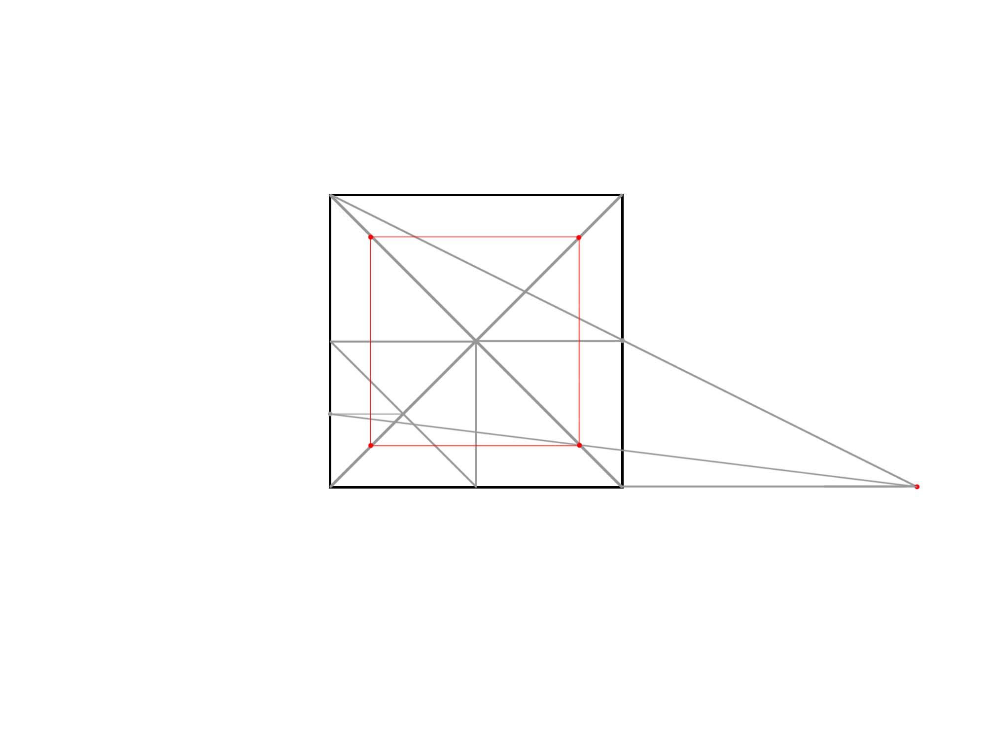 正方形を使って円を描く⑥