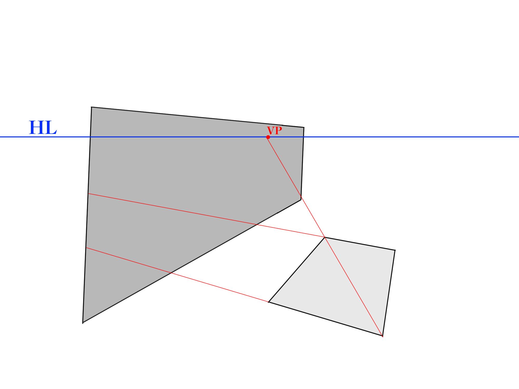 画面に角度がついた反射①
