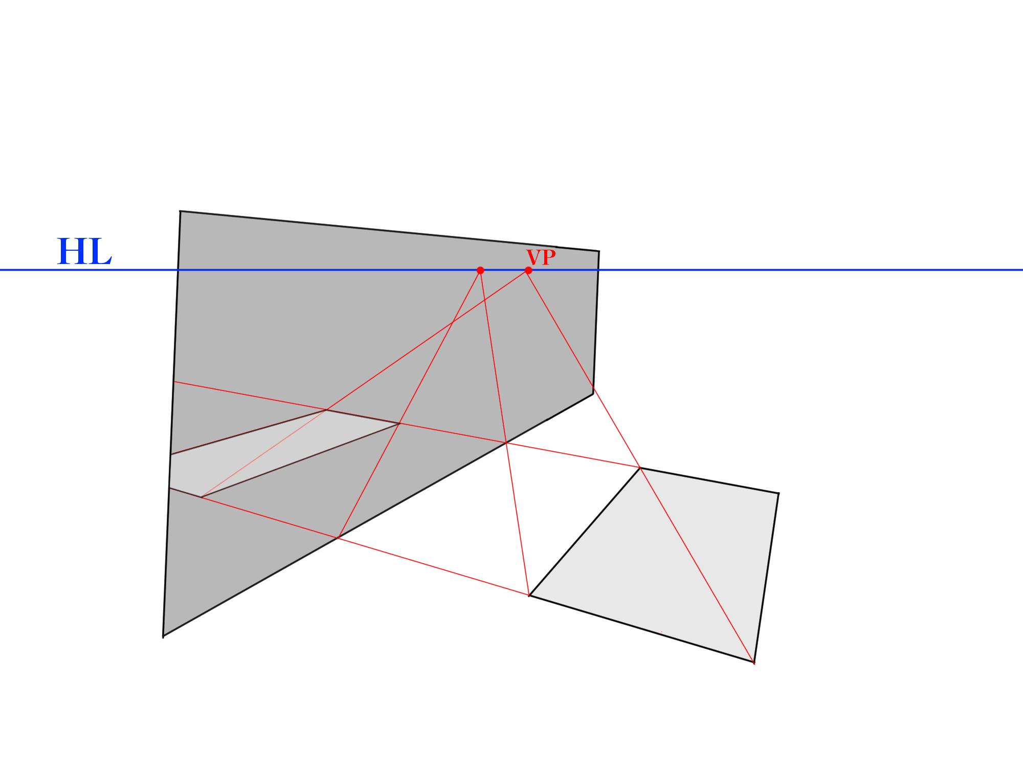 画面に角度がついた反射③