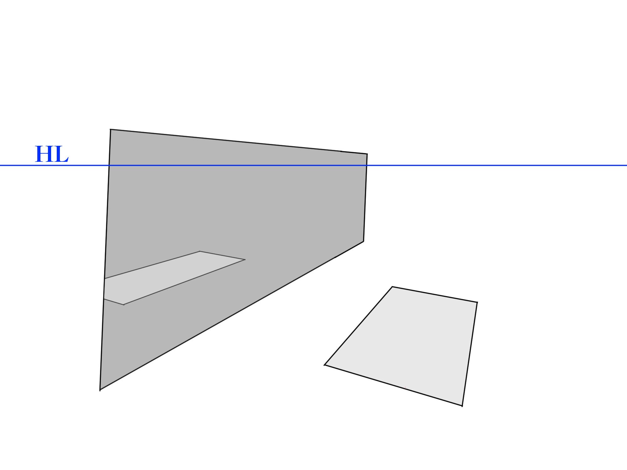 画面に角度がついた反射④