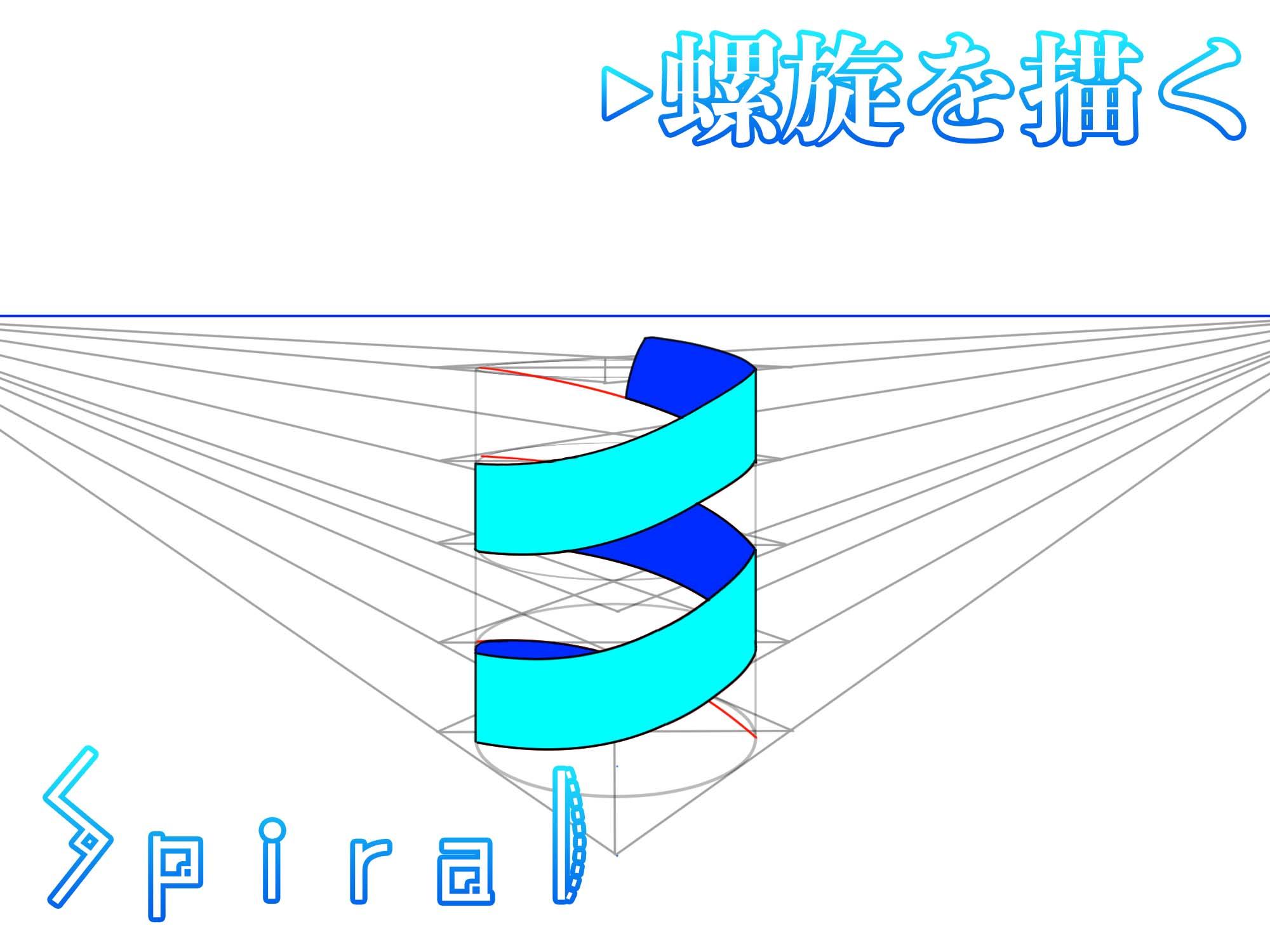 螺旋パースの描き方アイキャッチ