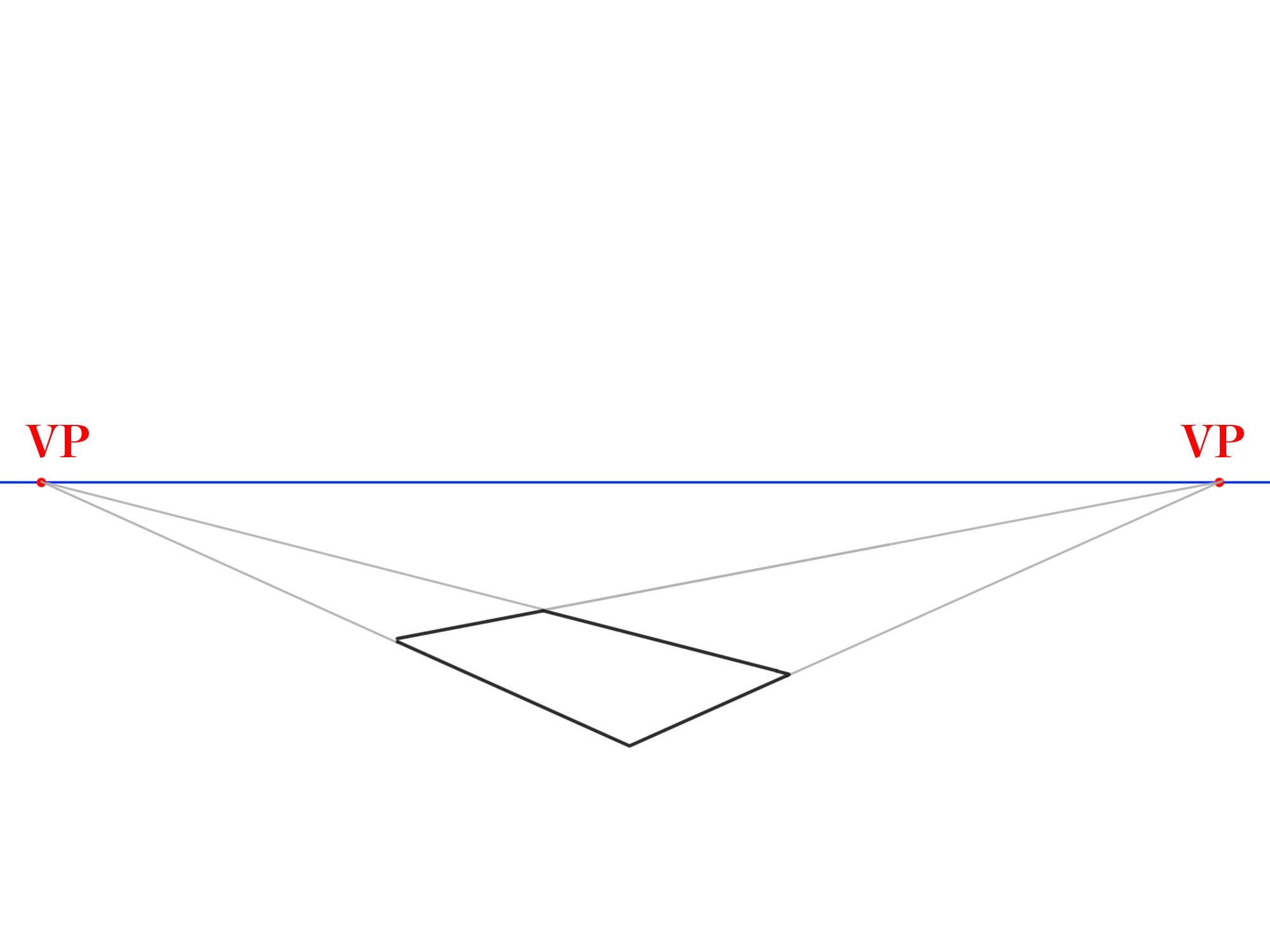 長方形から傾斜面を描く①