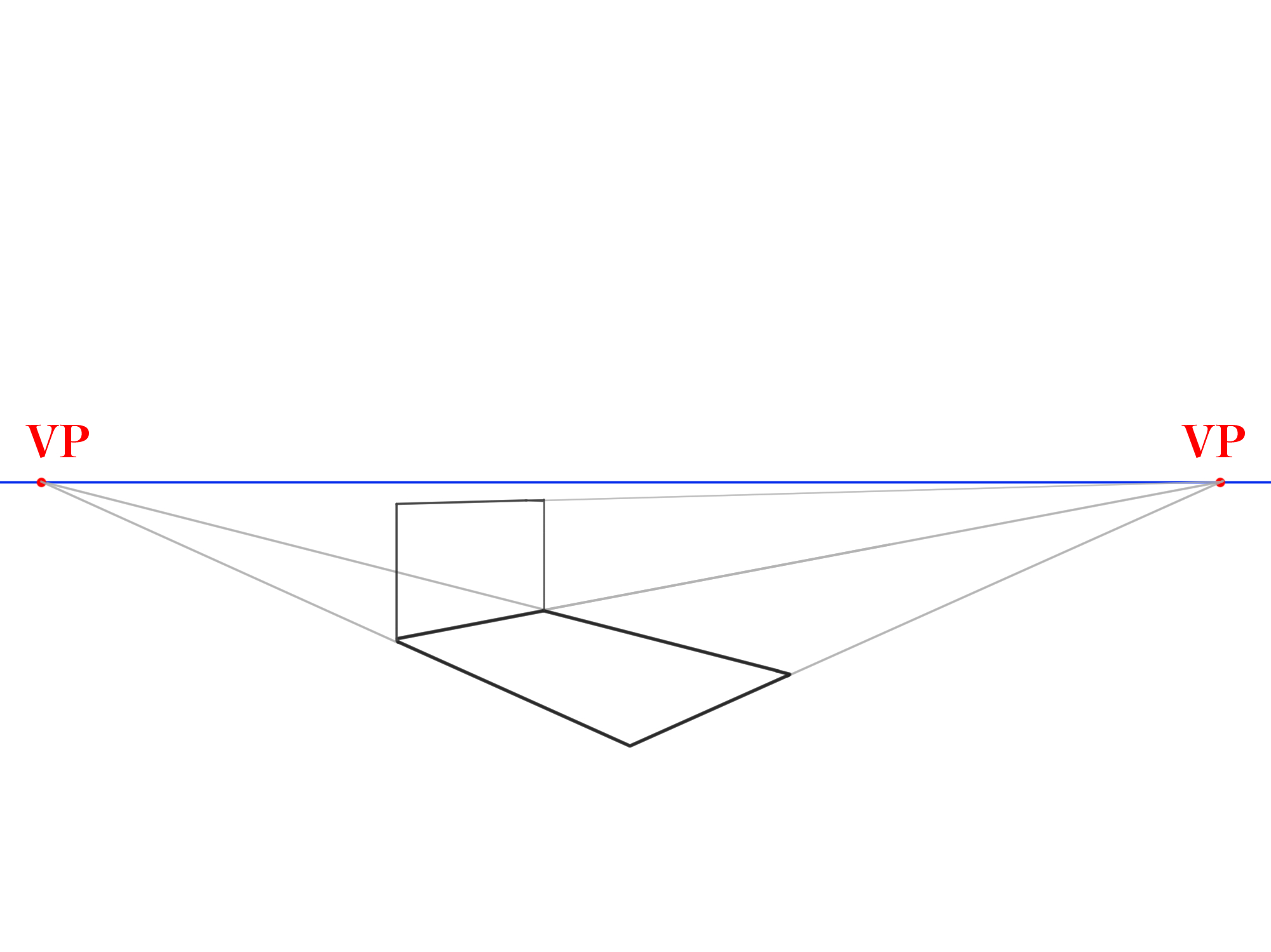 長方形から傾斜面を描く②
