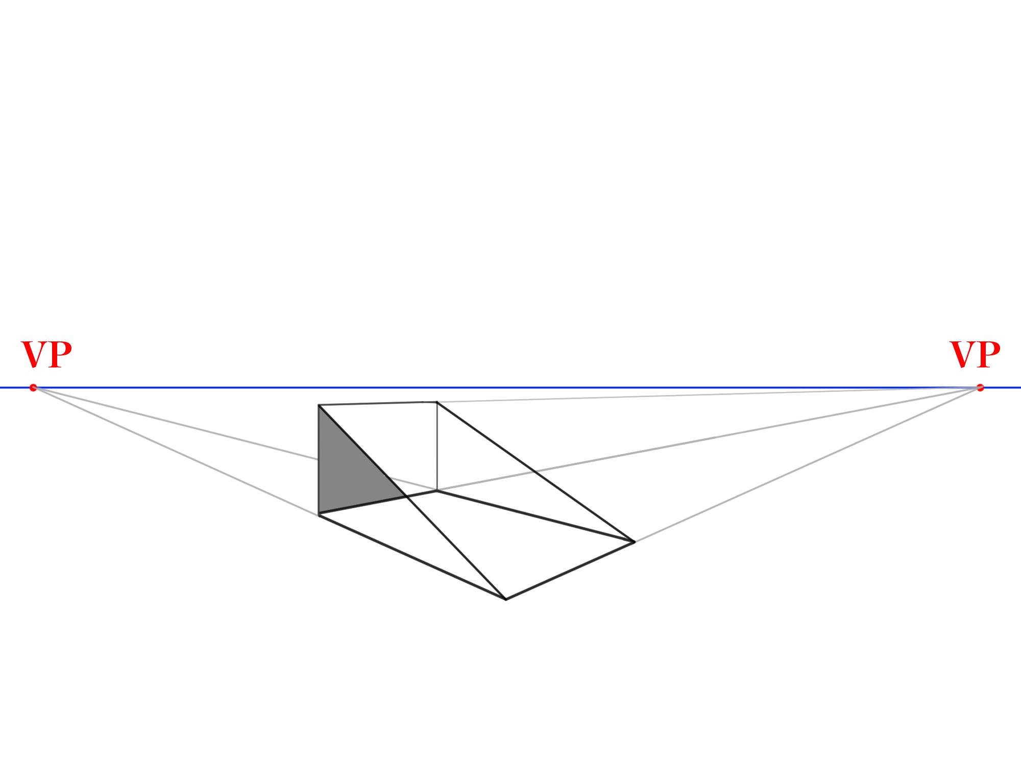 長方形から傾斜面を描く③