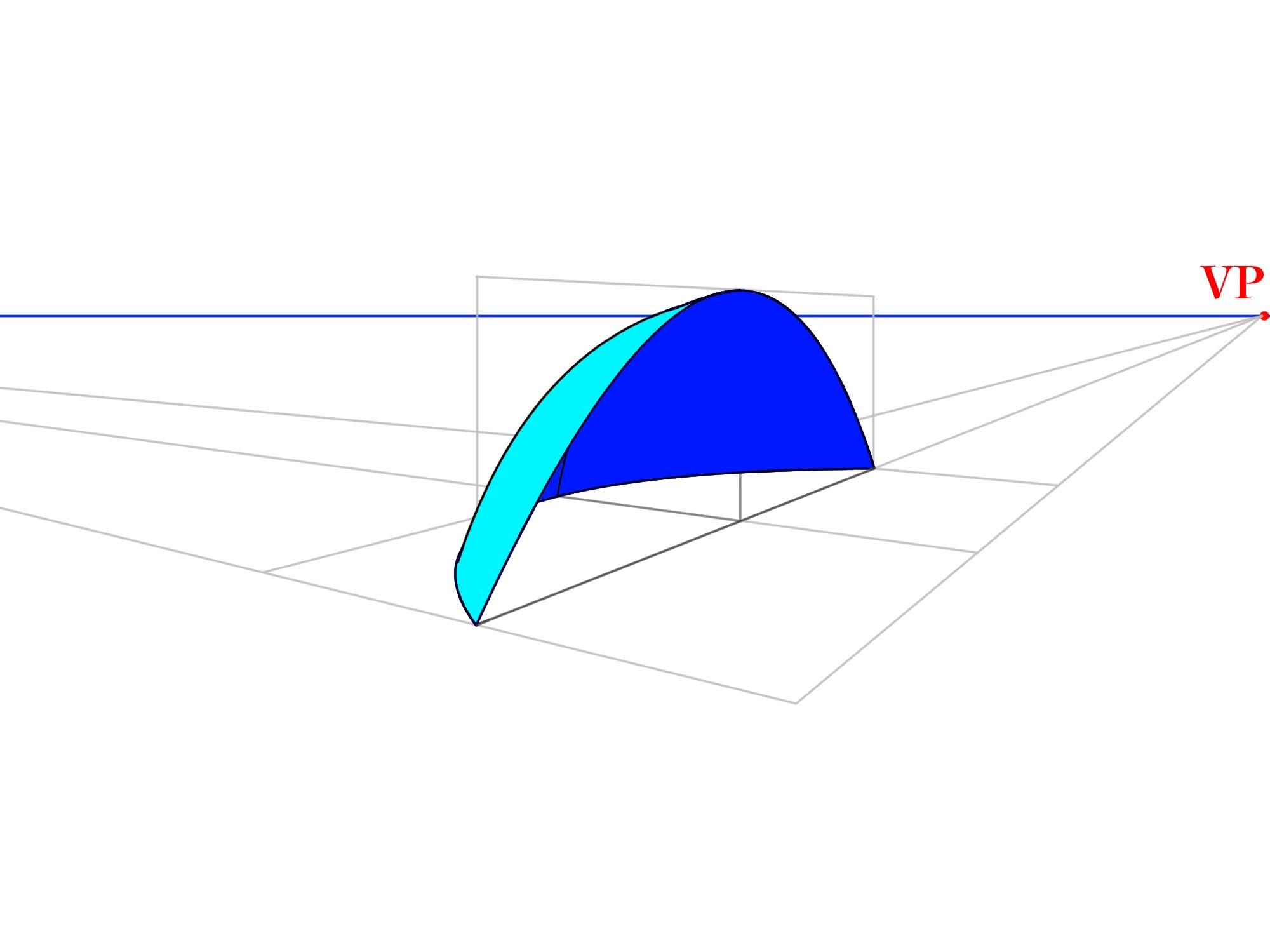 3本軸で曲面を描く色付き