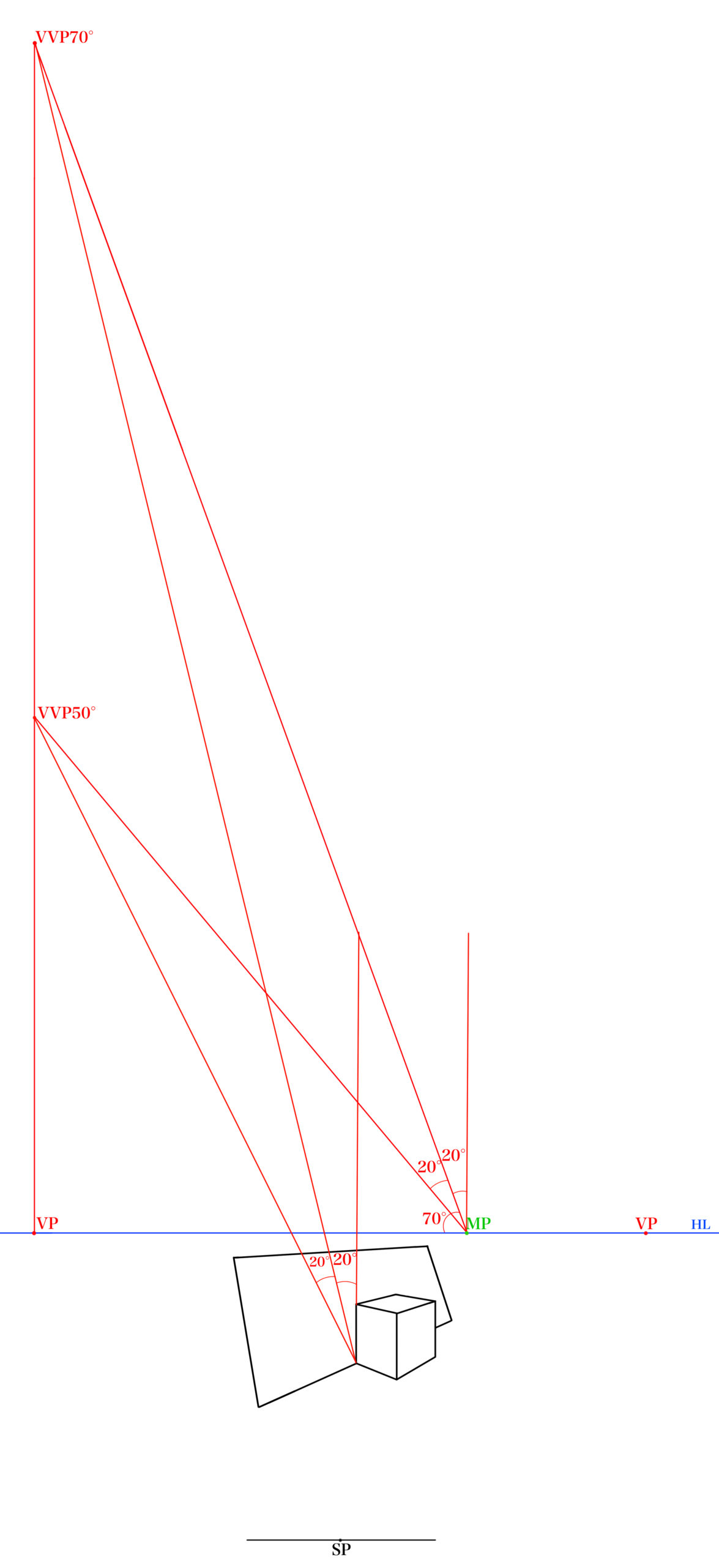 STEP⑦角度の消失点をみつける