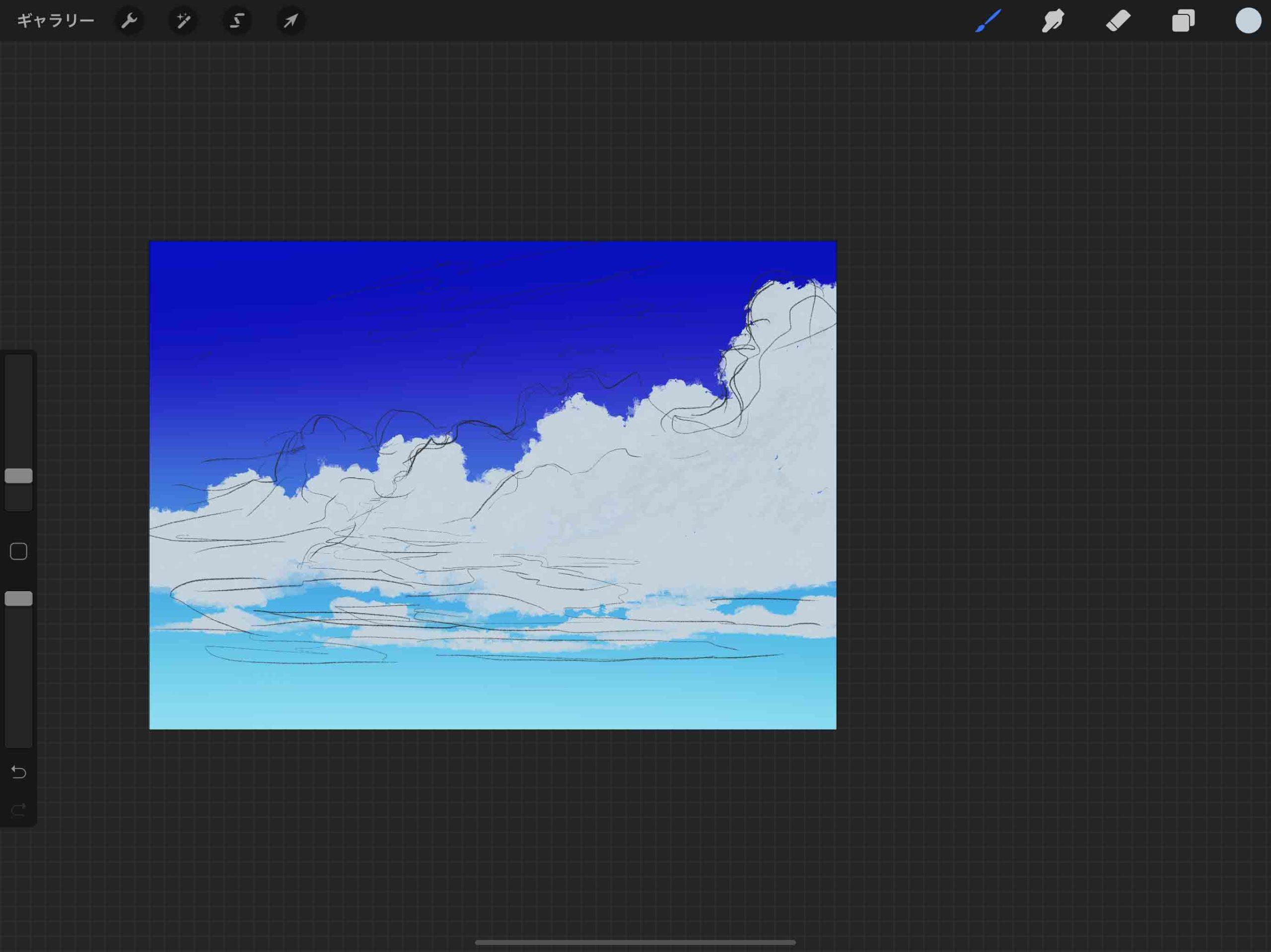 ⑤下側の雲