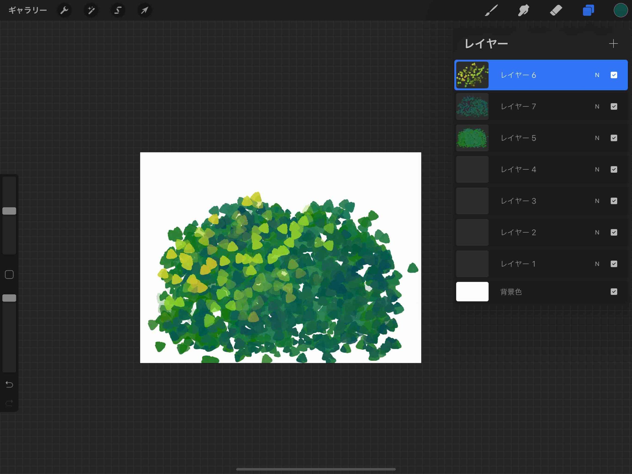 ⑫葉っぱを描画