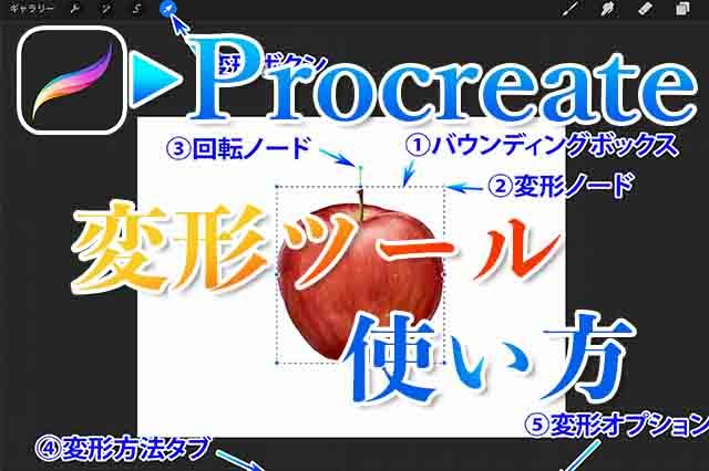 Procreate変形ツールアイキャッチ
