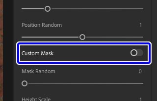 カスタムマスクをONに