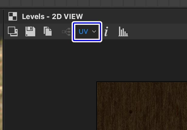 2DビューでUVをクリック