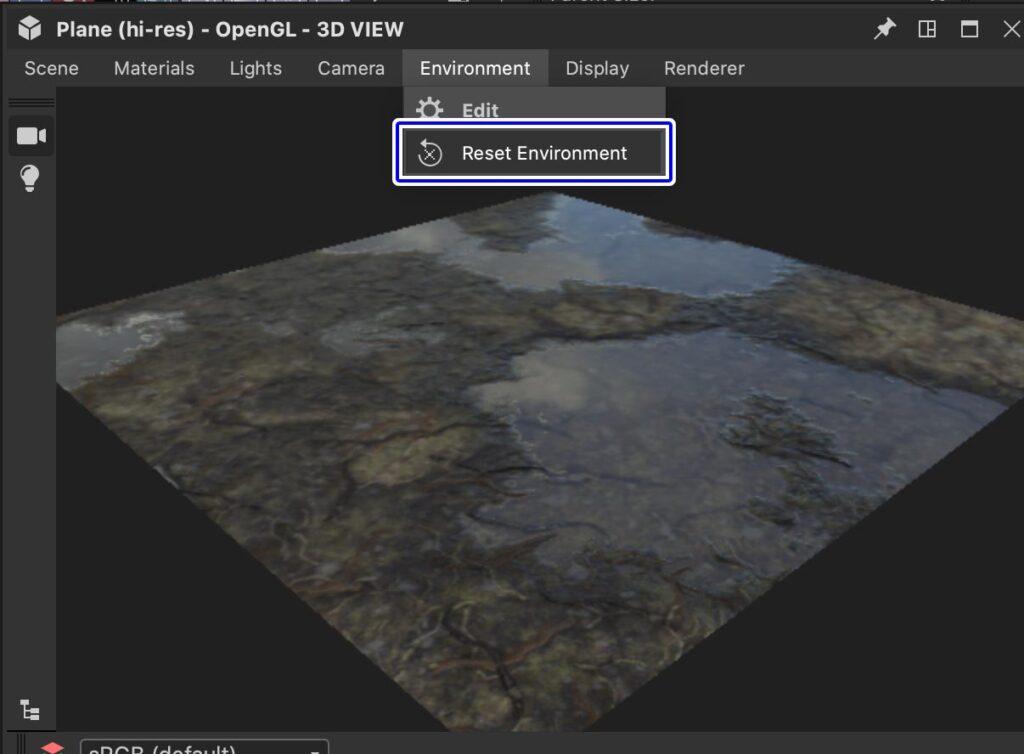 ResetEnvironmentMap