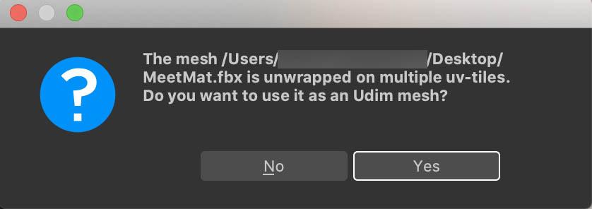 UDIMを使用するか確認