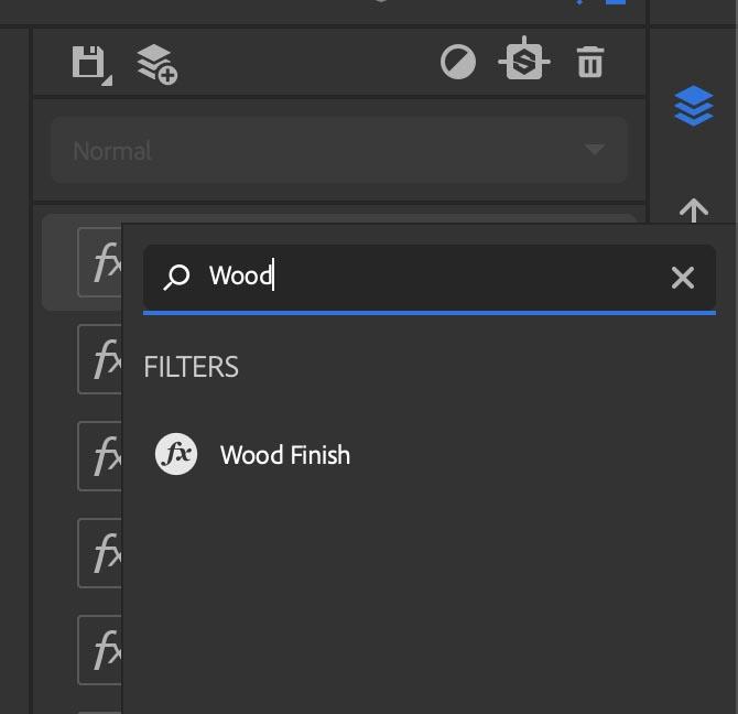WoodFinishを追加