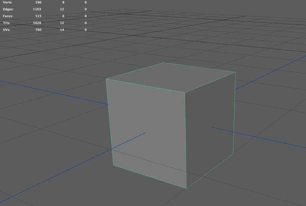 キューブを作成した状態