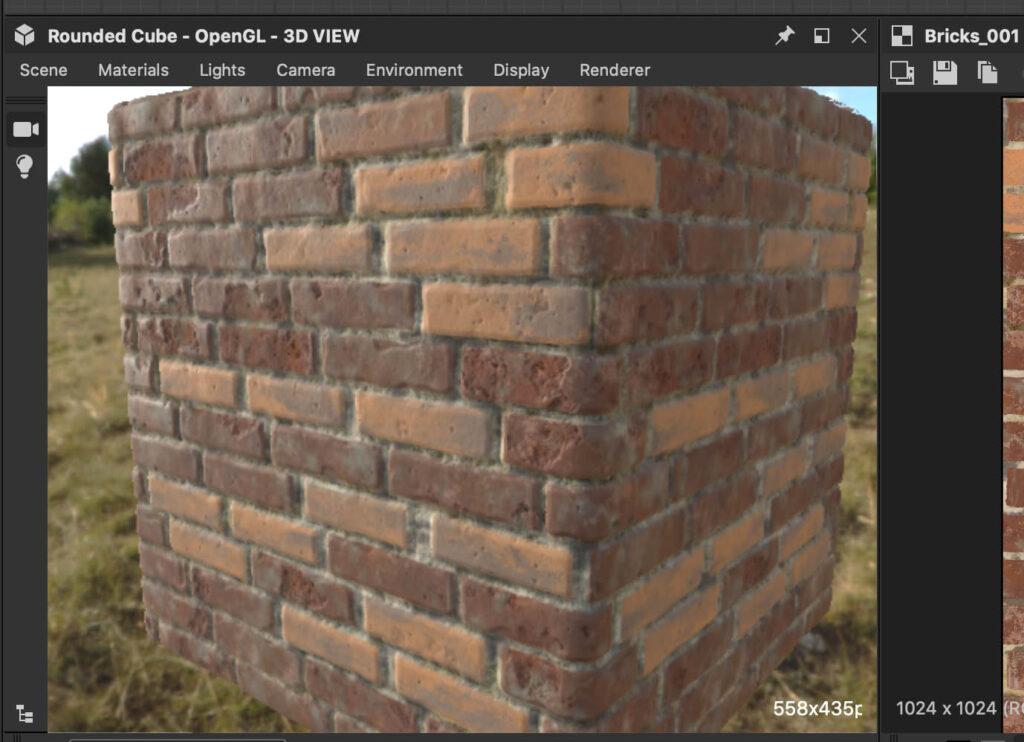 解像度の低い3Dビュー