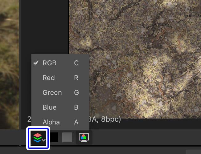 RGBチャンネルを表示