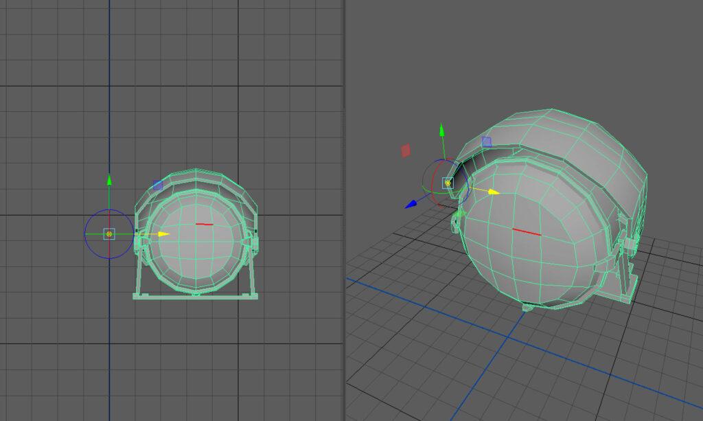 X軸の原点にピボットをあわせる