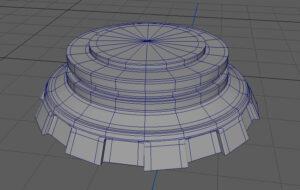 スムースメッシュプレビュー状態のモデル