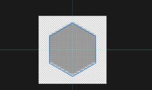6角形シェイプを作成