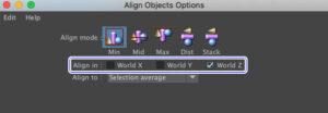 AlignObjectの軸を変更