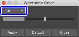 RGBカラーに変更