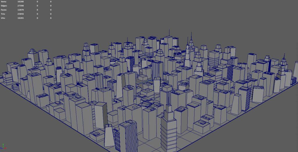 細かい街も簡単に作成可能